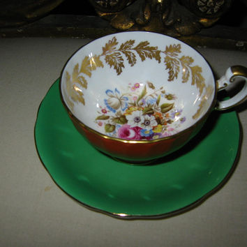 Aynsley England Fine Bone China English Tea Cup Saucer