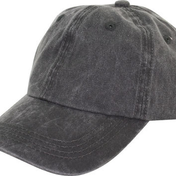 Washed Cotton Baseball Cap Hot (7 Color)