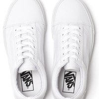 VANS WOMENS OLD SKOOL TRUE WHITE