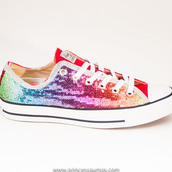 Grape Purple Sequin Converse All Star Hi from Princess Pumps