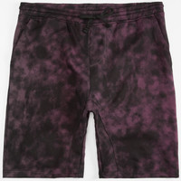 Brooklyn Cloth Tie Dye Mens Jogger Shorts Burgundy  In Sizes