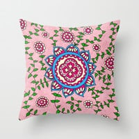 Vines Throw Pillow by PeriwinklePeacoat