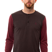 Iron & Resin Henley Standard in Graphite and Oxblood