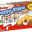 "Kinder ""Happy Hippo"" Cocoa Cream Biscuits : Pack of 5 Biscuits (Pack of 3)"