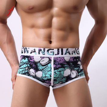 Men's Print Boxer Brief Trunks