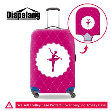 Dispalang anti-scratch luggage cover for 18''-30'' trolley suitcase stylish ballet girl dirt-proof thick wearable baggage covers
