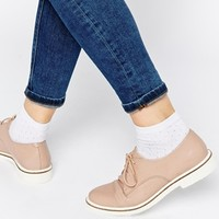 ASOS MELLA Leather Lace Up Shoes