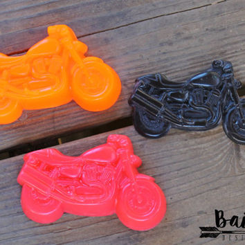 motorcycle soap, motorcycle gifts, harley davidson, motorcycle birthday, motorcycle party favors, unique favors, unique soap, novelty soap