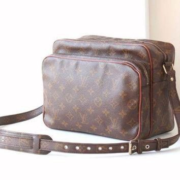 VLX9RV Vintage Louis Vuitton Monogram Nil Maroon Shoulder Cross body bag authentic purse
