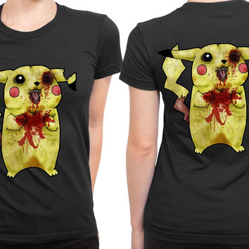 Pokemon Pikachu Zombie 2 Sided Womens T Shirt