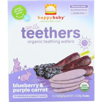 Happy Baby Gentle Teethers Organic Baby Food Blueberry & Purple Carrot - 1.7 oz