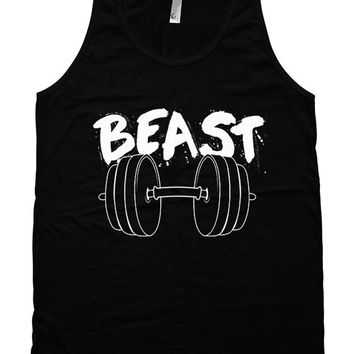 Funny Workout Tank Beast Tank Top Workout Clothes Gym Gifts Weight Lifting Tank Fitness Clothing American Apparel Mens Unisex Tank WT-159