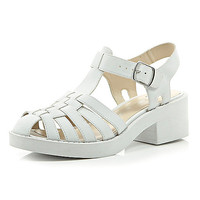 River Island Womens White chunky woven strap shoes
