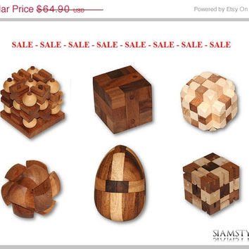 On Sale Fantastic Game Set, 3D XO Game, Cobra Game, Dinosaur Egg, Cubix, Nail Cube, Ball Puzzle, Wooden Game, Handmade, Sale