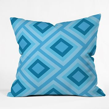 Lara Kulpa Blue Diamonds Throw Pillow