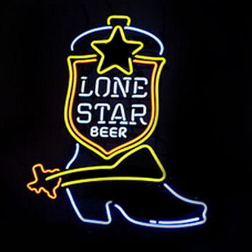 Lone Star Boot Neon Sign