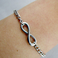 Infinity Wish Bracelet, Enco-friendly Personalized Charm Jewelry Friendship Gift.