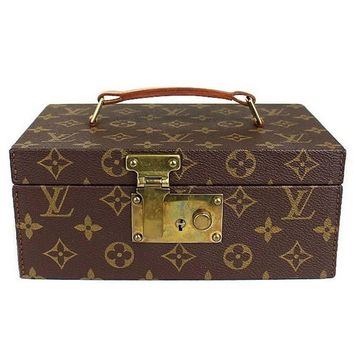 Louis Vuitton Monogram Canvas Men's Women's Jewelry Travel Storage Case W/Keys
