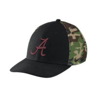 Nike Camo Hook True Swoosh Flex (Alabama) Fitted Hat Size FLX