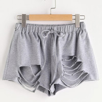 Distressed Style Summer Shorts, All Sizes