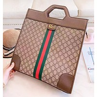 GUCCI New fashion stripe more letter leather couple handbag