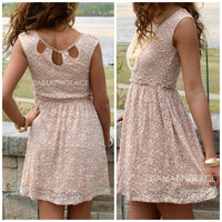 Brenton Gardens Peach Lace Dress