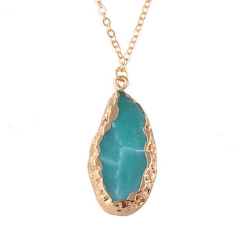 *online exclusive* natural stone/crystal necklace