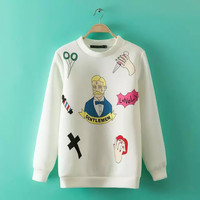 Printed Pullover knitted Shirt