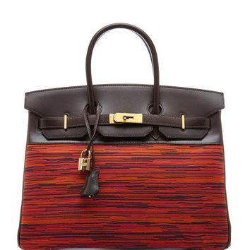 Heritage Auctions Special Collection Hermes 35Cm Ebene Calf Box And