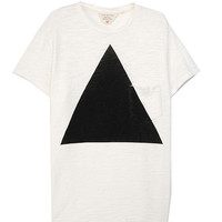 Rag & Bone - Triangle Pocket Tee - Flame Cotton, White