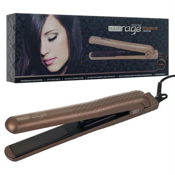 HAIR Rage Pro Salon Model Flat Iron - Gunmetal