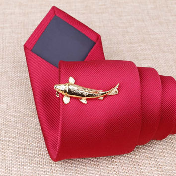 New Arrival Copper Mens Tie Clip Leaf/Wing/Fish/Tabocco Shape Tie Bars Mens Acce