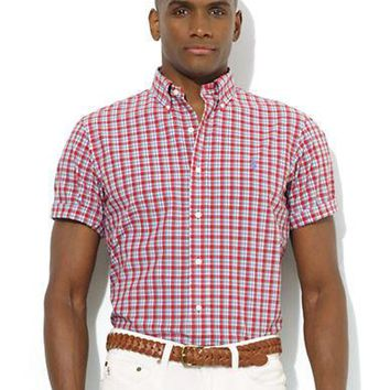 Polo Ralph Lauren Custom-Fit Short-Sleeve Plaid Poplin Sport Shirt