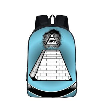 All Seeing Eye Turquoise Backpack
