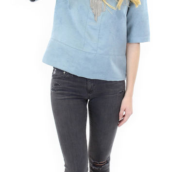 BCBGeneration   faux suede boxy top