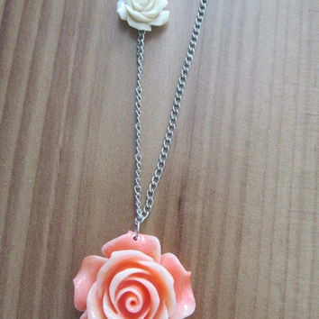 Pink Coral Flower Necklace
