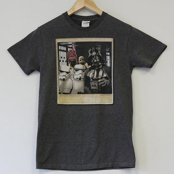 Star Wars Stormtrooper Polaroid Vintage T-Shirt Weasel Vintage Darth Vader Chewbacca Size Small