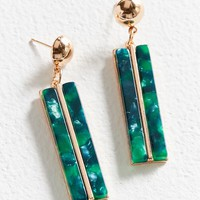 ZHUU Slim Rectangular Pendant Drop Earring | Urban Outfitters