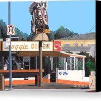 Doggie Diner 1986 Canvas Print