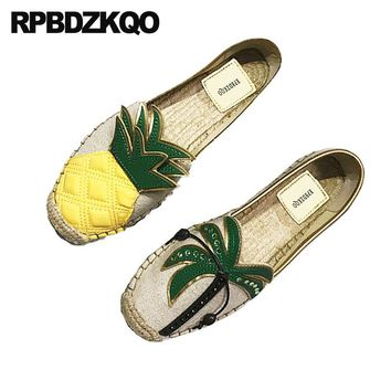 Women's Flats Pineapple Canvas