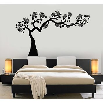 Vinyl Wall Decal Asian Style Japanese Tree Nature Bedroom Art Stickers Mural (g2571)