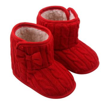 Bowknot Soft Sole Winter Warm Shoes Boots