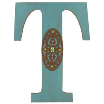 Turquoise Rustic Wood Letter - T | Shop Hobby Lobby