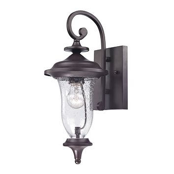 Trinity 1 Light Outdoor Wall Sconce In Oil Rubbed Bronze