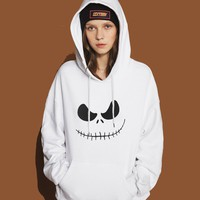 Jack Skellington Pumpkin King Print Hipster Hoodie For Women 2017 Spring Winter Sweatshirt Streetwear Punk Female Hoody Harajuku