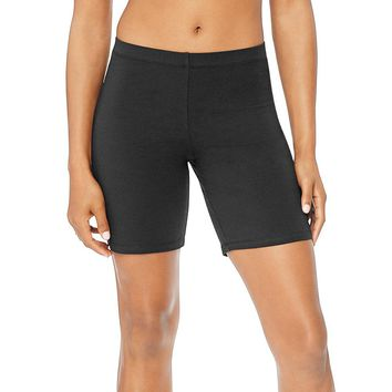 Hanes Women's Stretch Jersey Bike Shorts Style: O9291-Black M