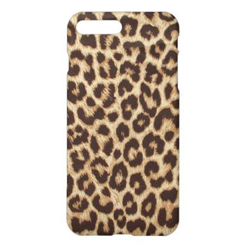 Leopard Print Matte Finish iPhone 7 Plus Case