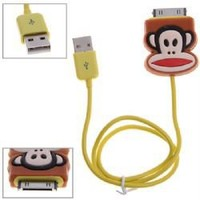 Dock Connector to USB Power & Data Cable for iPhone 4S, iPhone 4, iPhone 3G/3GS, iPod - Paul Frank