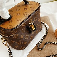 Louis Vuitton LV Women Shopping Leather Handbag Cosmetic Bag Crossbody Satchel Shoulder Bag