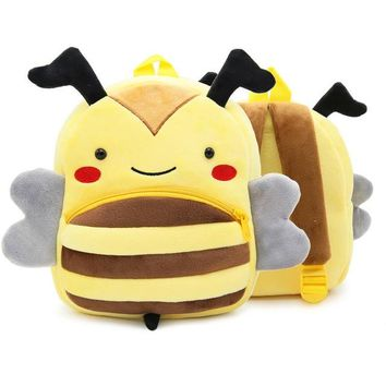 Boys Backpack Bag New Kawaii Stuffed Plush Kids Baby Toddler School Bags  Kindergarten Schoolbag for Girls 3D Cartoon Animal  AT_61_4
